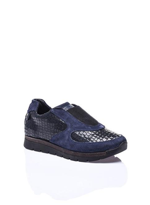 Camore %100 Deri Casual Ayakkabı Lacivert